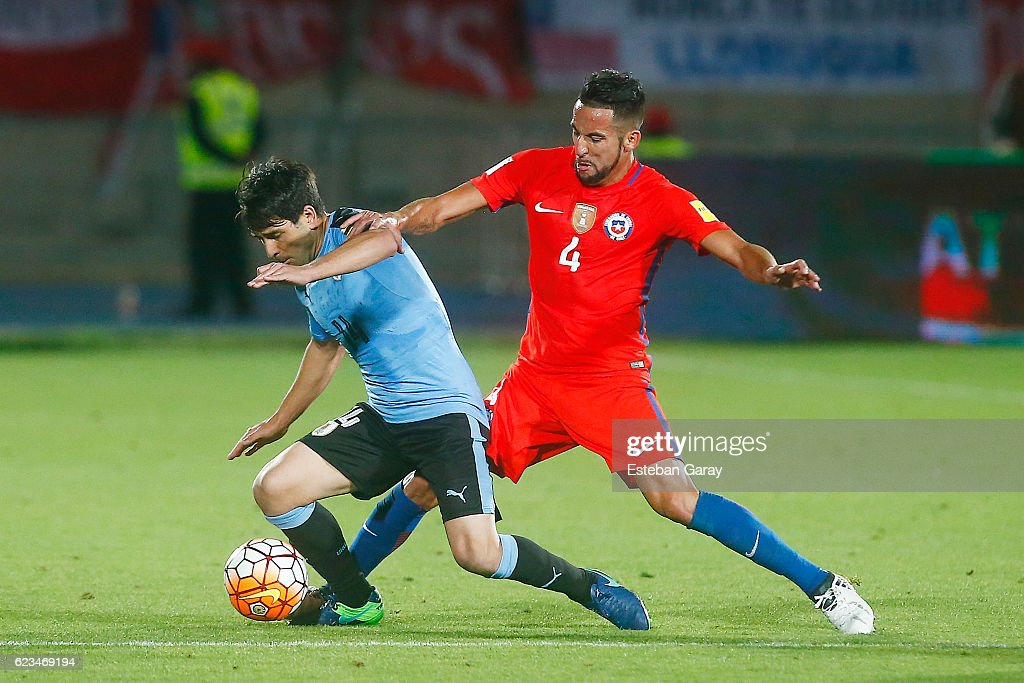 Chile v Uruguay - FIFA 2018 World Cup Qualifiers : ニュース写真