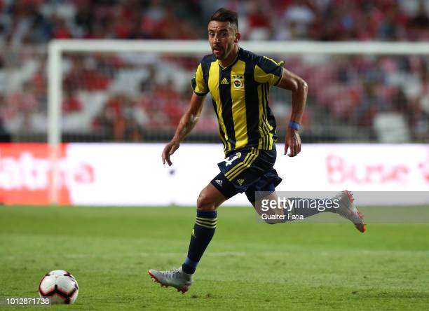 Mauricio Isla of Fenerbache SK in action during the UEFA Champions League Qualifier match between SL Benfica and Fenerbache at Estadio da Luz on...