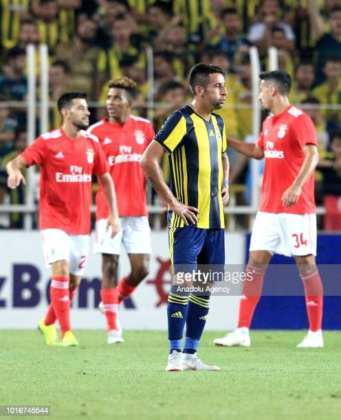 Mauricio Isla of Fenerbahce gestures after the goal of Benfica during UEFA Champions League third qualifying round's second leg match between...
