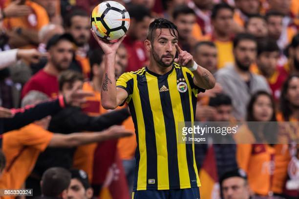 Mauricio Isla of Fenerbahce SK during the Turkish Spor Toto Super Lig football match between Galatasaray SK and Fenerbahce AS on October 22 2017 at...