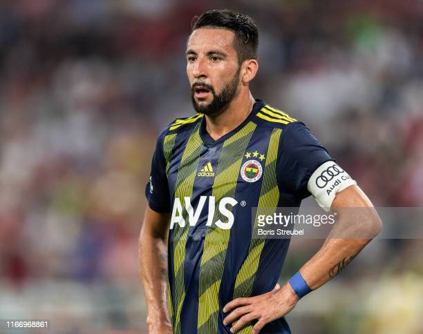 Mauricio Isla of Fenerbahce SK looks on during the Audi cup 2019 semi final match between FC Bayern Muenchen and Fenerbahce at Allianz Arena on July...