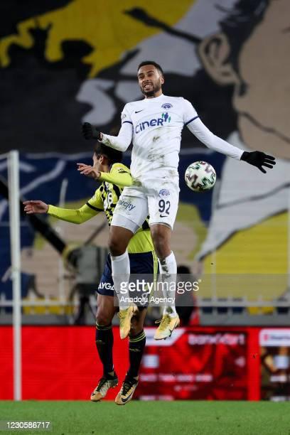 Mauricio Lemos Merladet of Fenerbahce in action against Isaac Kiese Thelin of Kasimpasa during the Ziraat Turkish Cup round of 16 match between...