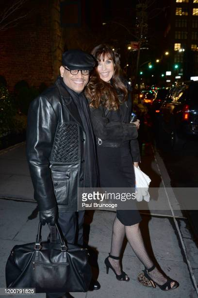 Mauricio Lynch and Carol Alt attend MAC Nordstrom And The CFDA Host The After Party For The Times Of Bill Cunningham at Bistrot Leo on February 13...