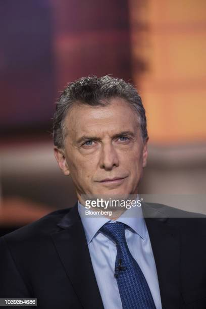 Mauricio Macri Argentina's president smiles during a Bloomberg Television interview in New York US on Monday Sept 24 2018 There's a 'zero chance of...