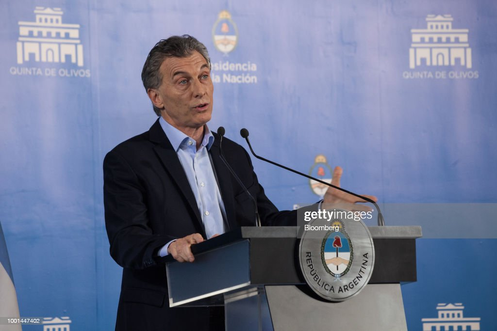 President Mauricio Macri Holds Press Conference As Inflation Hits Thirty Percent
