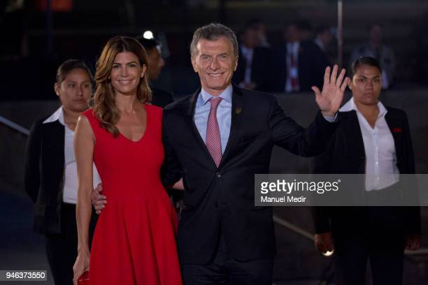 Mauricio Macri President of Argentina arrives the inauguration of the VIII Summit of The Americas during Day 1 of the VIII Summit of The Americas on...