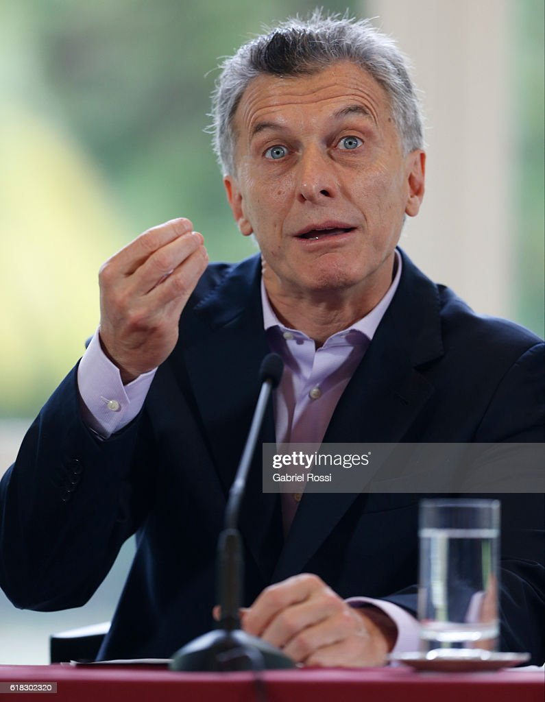 Maurico Macri Announces the Return of ANSES Funds : ニュース写真