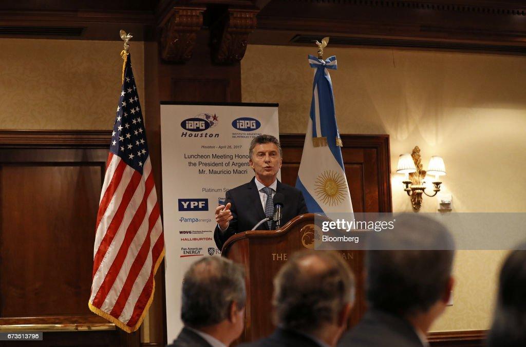 Argentine President Mauricio Macri Meets With Texas Oil Executives : News Photo