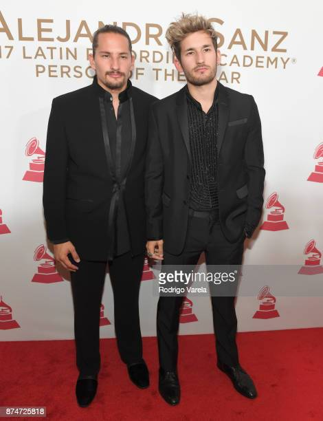Mauricio Montaner and Ricardo Montaner of Mau & Ricky attend the 2017 Person of the Year Gala honoring Alejandro Sanz at the Mandalay Bay Convention...