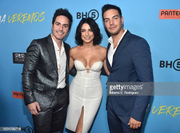 Mauricio Ochmann Aislinn Derbez and Vadhir Derbez attend the premiere of Pantelion Films' Ya Veremos at Regal Cinemas LA LIVE Stadium 14 on August 27...