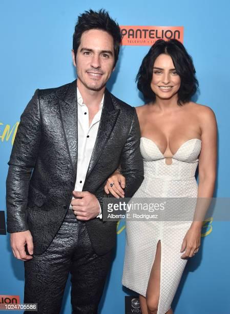 Mauricio Ochmann and Aislin Derberz attend the premiere of Pantelion Films' Ya Veremos at Regal Cinemas LA LIVE Stadium 14 on August 27 2018 in Los...