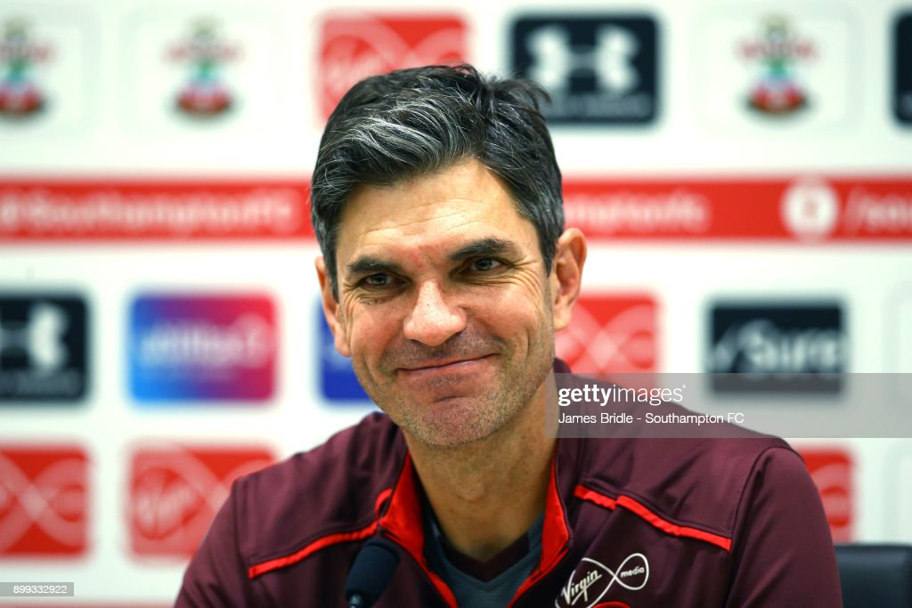 Mauricio Pellegrino during a Southampton FC Press Conference at Staplewood Complex on December 28, 2017 in Southampton, England.
