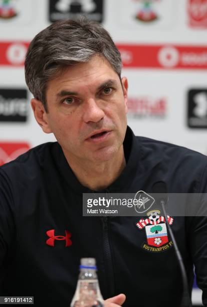 Mauricio Pellegrino during a Southampton FC press conference at the Staplewood Campus on February 9 2018 in Southampton England