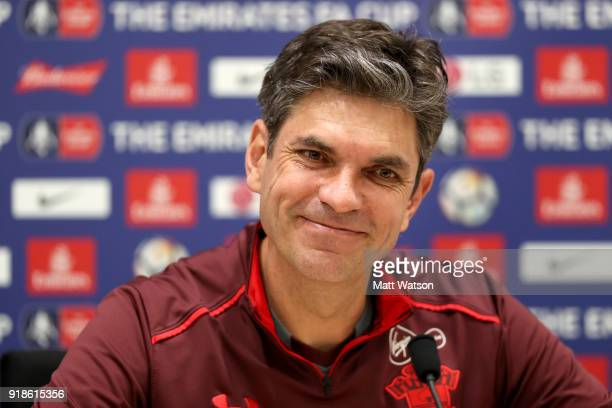 Mauricio Pellegrino during a Southampton FC press conference at the Staplewood Campus on February 15 2018 in Southampton England