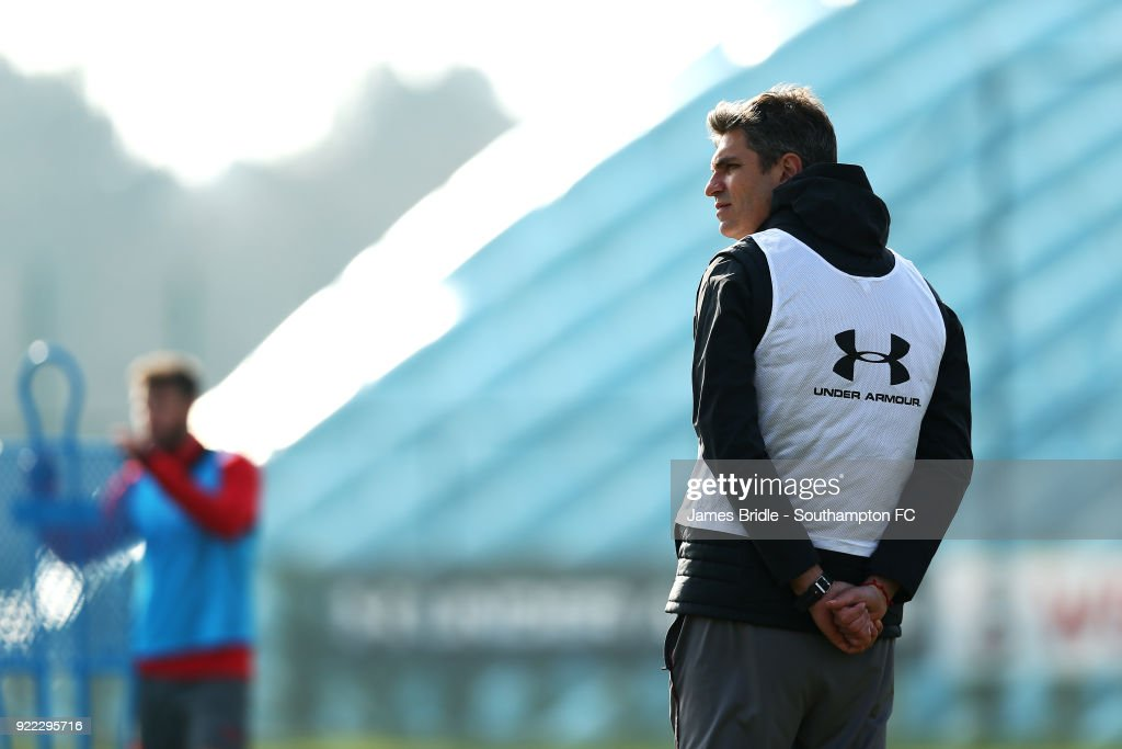 Mauricio Pellegrino during a Southampton FC training session at Staplewood Complex on February 21, 2018 in Southampton, England.