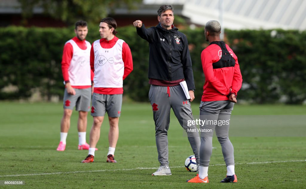Mauricio Pellegrino during a Southampton FC training session at the Staplewood Campus on October 12, 2017 in Southampton, England.