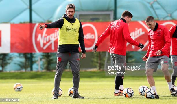 Mauricio Pellegrino during a Southampton FC training session at the Staplewood Campus on February 15 2018 in Southampton England