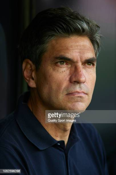 Mauricio Pellegrino Manager of Leganes looks on prior to the La Liga match between Valencia CF and CD Leganes at Estadio Mestalla on October 20 2018...
