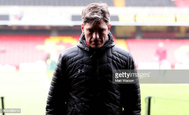 Mauricio Pellegrino manager of Southampton ahead of the Premier League match between Watford and Southampton at Vicarage Road on January 13 2018 in...