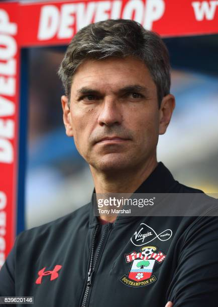 Mauricio Pellegrino Manager of Southampton during the Premier League match between Huddersfield Town and Southampton at John Smith's Stadium on...