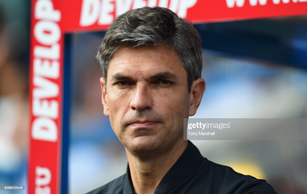 Mauricio Pellegrino, Manager of Southampton during the Premier League match between Huddersfield Town and Southampton at John Smith's Stadium on August 26, 2017 in Huddersfield, England.