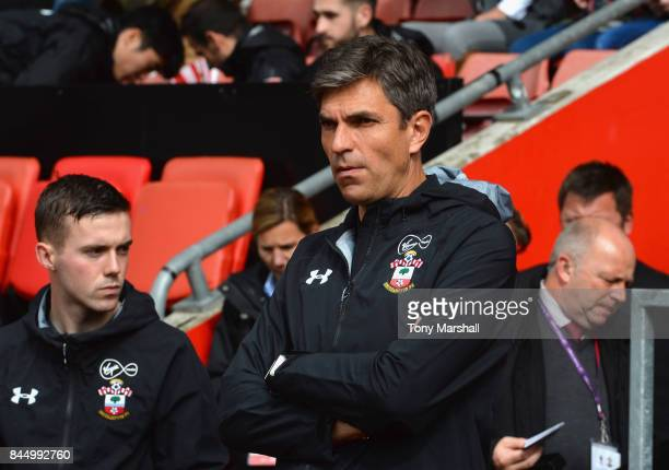 Mauricio Pellegrino Manager of Southampton during the Premier League match between Southampton and Watford at St Mary's Stadium on September 9 2017...