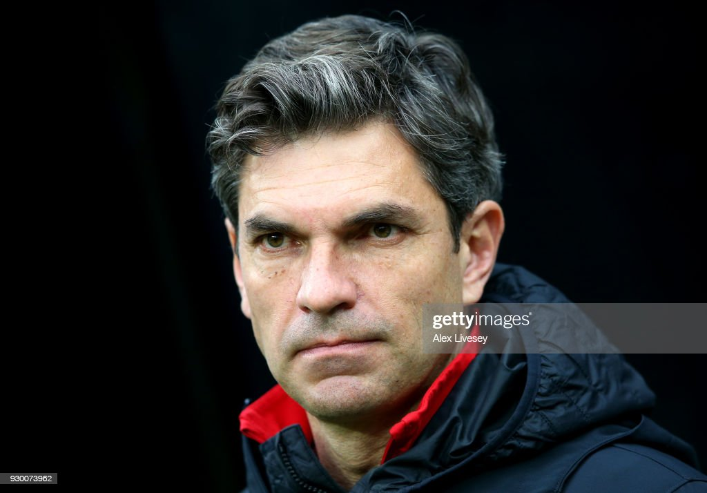 Mauricio Pellegrino, Manager of Southampton during the Premier League match between Newcastle United and Southampton at St. James Park on March 10, 2018 in Newcastle upon Tyne, England.