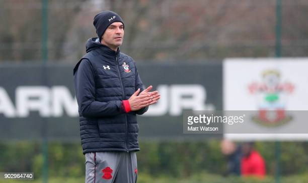 Mauricio Pellegrino manager of Southampton FC during a training session at the Staplewood Campus on January 9 2018 in Southampton England