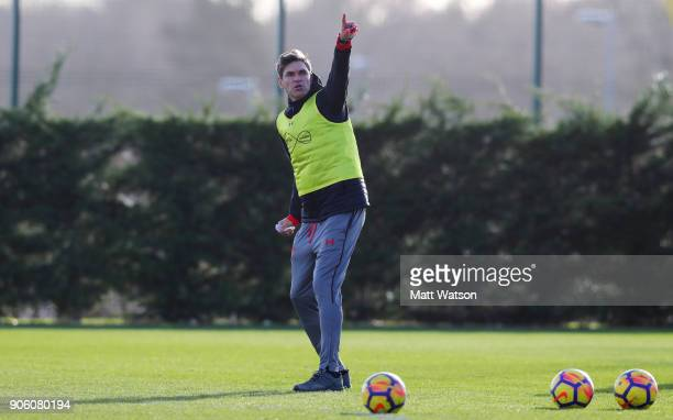 Mauricio Pellegrino manager of Southampton FC during a training session at the Staplewood Campus on January 17 2018 in Southampton England
