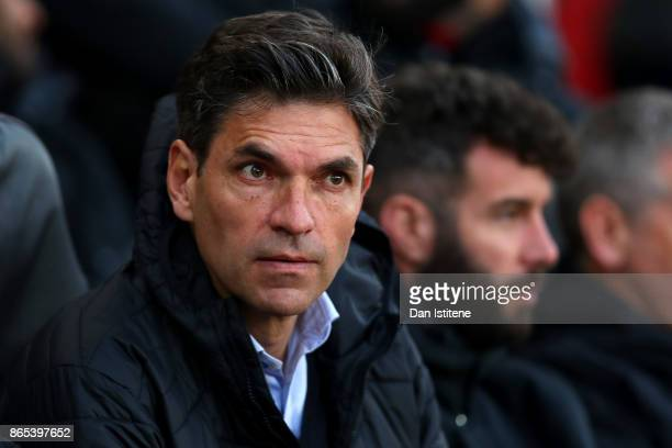 Mauricio Pellegrino manager of Southampton looks on before the Premier League match between Southampton and West Bromwich Albion at St Mary's Stadium...