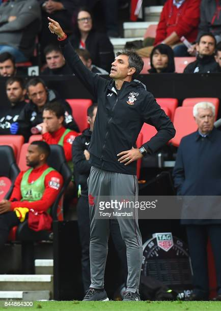 Mauricio Pellegrino Manager of Southampton looks on during the Premier League match between Southampton and Watford at St Mary's Stadium on September...