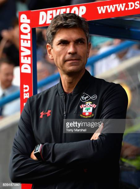 Mauricio Pellegrino Manager of Southampton looks on prior to the Premier League match between Huddersfield Town and Southampton at John Smith's...