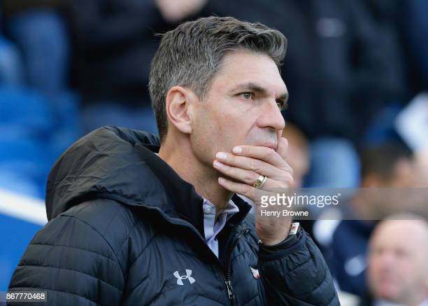 Mauricio Pellegrino Manager of Southampton looks on prior to the Premier League match between Brighton and Hove Albion and Southampton at Amex...