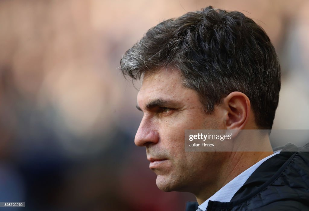 Mauricio Pellegrino, Manager of Southampton looks on prior to the Premier League match between Tottenham Hotspur and Southampton at Wembley Stadium on December 26, 2017 in London, England.