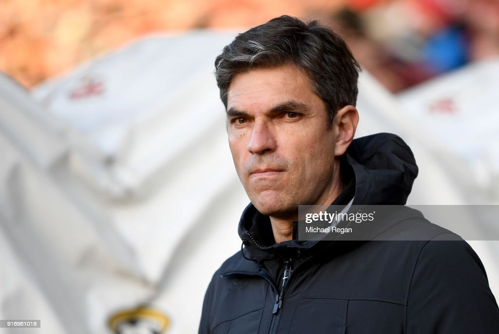 Mauricio Pellegrino, Manager of Southampton looks on prior to the Premier League match between Southampton and Liverpool at St Mary's Stadium on February 11, 2018 in Southampton, England.