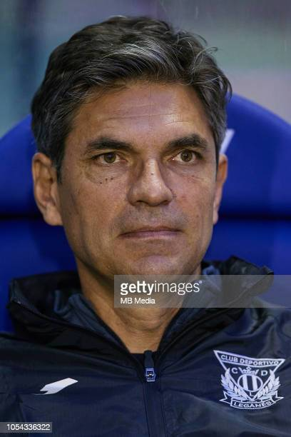 Mauricio Pellegrino of CD Leganes looks on prior to the La Liga match between Levante UD and CD Leganes at Ciutat de Valencia on October 27 2018 in...