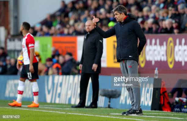 Mauricio Pellegrino of Southampton during the Premier League match between Burnley and Southampton at Turf Moor on February 24 2018 in Burnley England