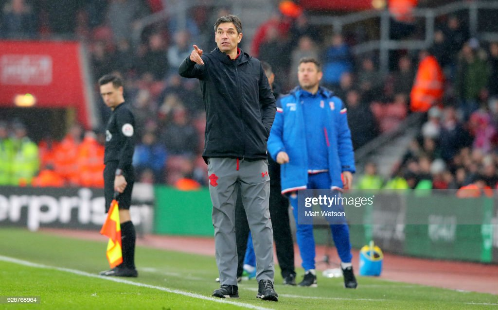 Mauricio Pellegrino of Southampton during the Premier League match between Southampton and Stoke City at St Mary's Stadium on March 3, 2018 in Southampton, England.