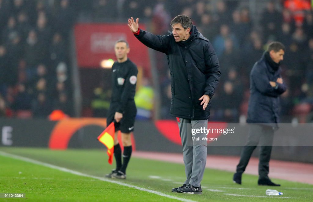 Mauricio Pellegrino of Southampton FC during the FA Cup 4th round match between Southampton FC and Watford, at St Mary's Stadium on January 27, 2018 in Southampton, England.