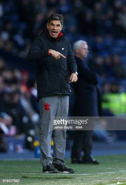 Mauricio Pellegrino the head coach / manager of Southampton during The Emirates FA Cup Fifth Round match between West Bromwich Albion and Chelsea at...