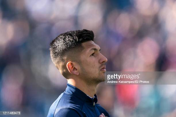 Mauricio Pineda of Chicago Fire during a game between Chicago Fire and New England Revolution at Gillette Stadium on March 7 2020 in Foxborough...