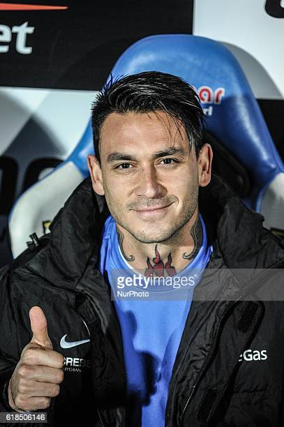 Mauricio Pinilla during the Serie A match between Pescara Calcio and Atalanta BC at Adriatico Stadium on October 26 2016 in Pescara Italy