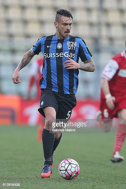 Mauricio Pinilla of Atalanta BC in action during the Serie A match between Carpi FC and Atalanta BC at Alberto Braglia Stadium on February 28 2016 in...