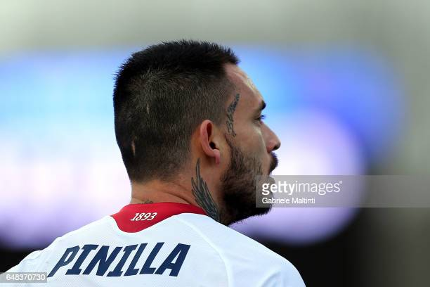 Mauricio Pinilla of Genoa CFC in action during the Serie A match between Empoli FC and Genoa CFC at Stadio Carlo Castellani on March 5 2017 in Empoli...