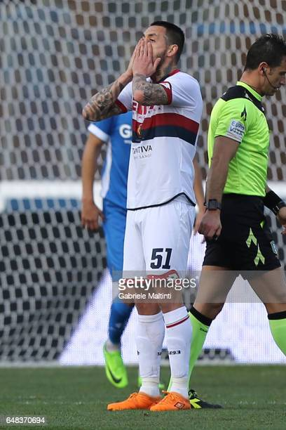 Mauricio Pinilla of Genoa CFC reacts during the Serie A match between Empoli FC and Genoa CFC at Stadio Carlo Castellani on March 5 2017 in Empoli...