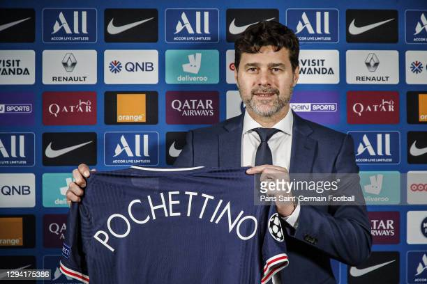 Mauricio Pochettino becomes Paris Saint-Germain head coach on January 02, 2021 in Paris, France. He has signed a contract until June 30th 2022, with...
