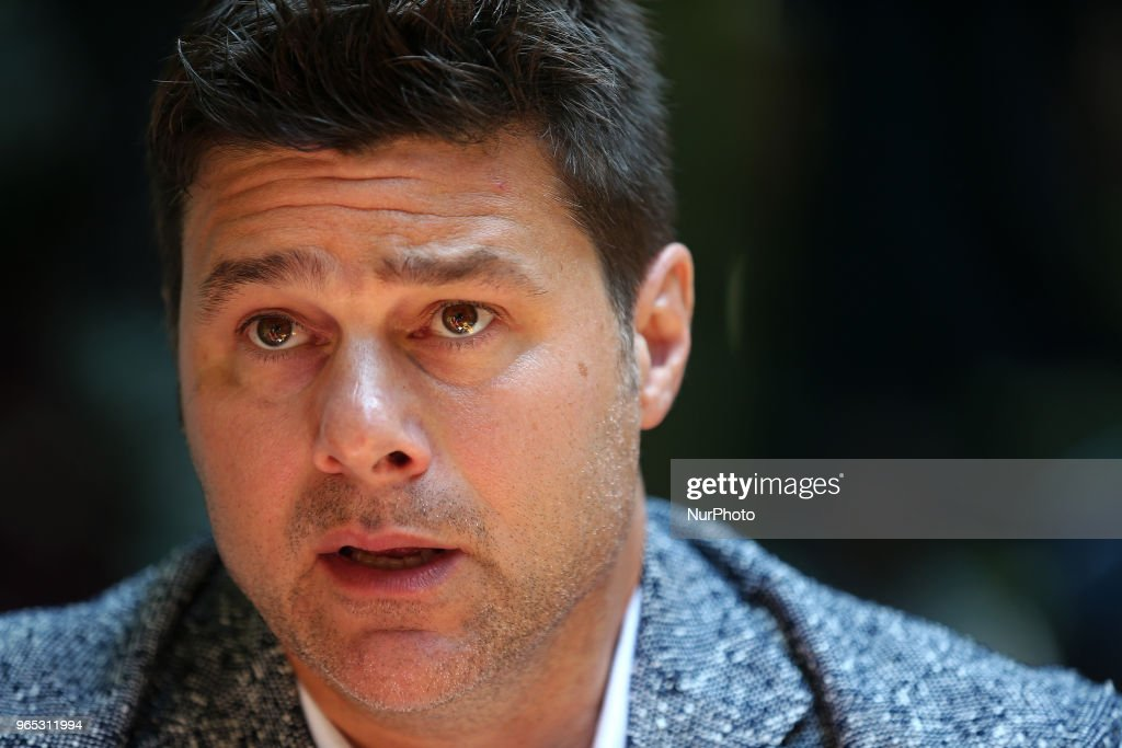 Mauricio Pochettino, candidate to replace Zinedine Zidane as coach of Real Madrid, in the presentation of his book A New World, on June 1 2018 in Barcelona, Spain.