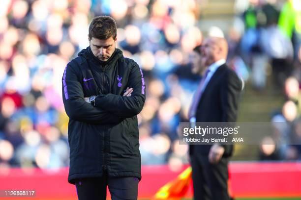Mauricio Pochettino head coach / manager of Tottenham Hotspur during the Premier League match between Burnley FC and Tottenham Hotspur at Turf Moor...