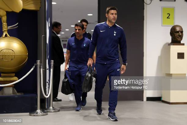 Luke Amos of Tottenham Hotspur arrives at the stadium prior to the Premier League match between Tottenham Hotspur and Fulham FC at Wembley Stadium on...