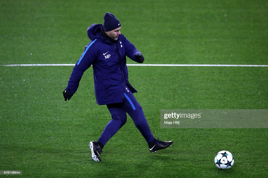 Mauricio Pochettino, Manager of Tottenham Hotspur during a Tottenham Hotspur training session ahead of the Chamions League Group H match between Borussia Dortmund and Tottenham Hotspur on November 20, 2017 in Dortmund, Germany.